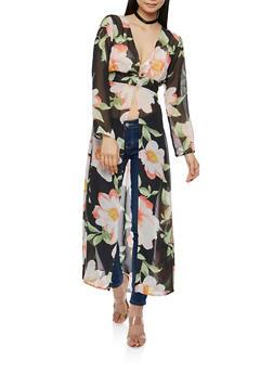 Floral Chiffon Maxi Top - 1008074290124