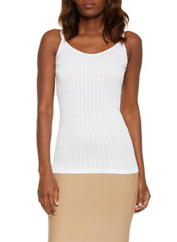Double Strap Cable Knit Cami - WHITE - 1010038341020