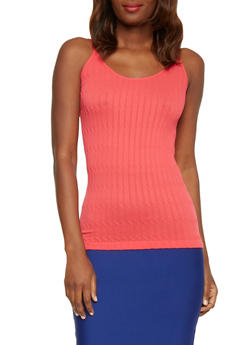 Double Strap Cable Knit Cami - 1010038341020