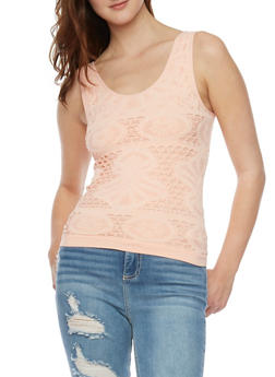 Crochet Knit Tank Top - 1010038341045