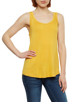 Basic Scoop Back Tank Top - 1010054269539