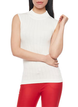 Sleeveless Mockneck Top - IVORY - 1011038341029