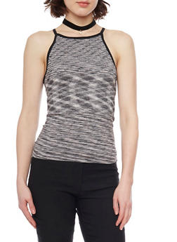Textured Space Dye Tank Top - 1011038341040