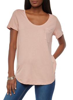Basic One Pocket T Shirt - 1012054269412