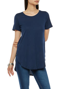 Side Slit Basic T Shirt - 1012054269413