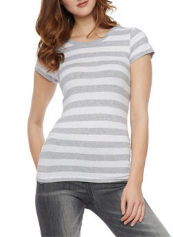 Classic Striped Cew Neck T Shirt - 1013054264001