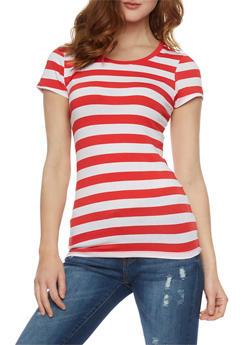 Classic Striped Cew Neck T Shirt - 1013054264001