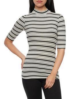 Ribbed Top in Stripes - 1016054264171