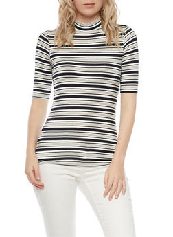 Ribbed Top in Stripes - 1016054264171