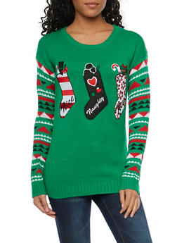 Sweater with Holiday Stockings - 1020015050024