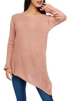 Long Sleeve Asymmetrical Sweater - 1020038347125