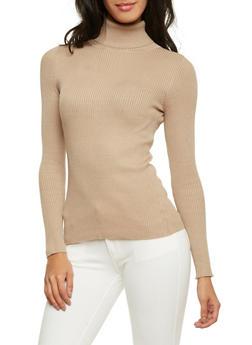 Ribbed Turtleneck Sweater - 1020054267660