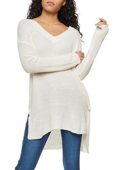 Tunic Knit Sweater - 1020054268217