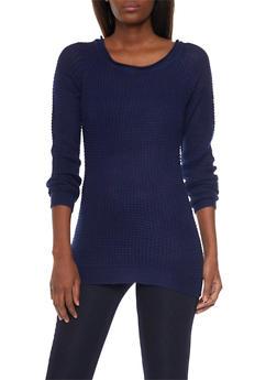 Waffle Knit Chunky Sweater - 1020054268907