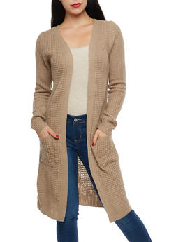 Chunky Knit Open Front Duster - 1022054260818