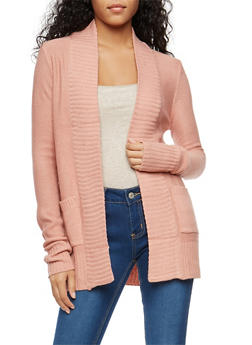 Open Front Cardigan - 1022054264347