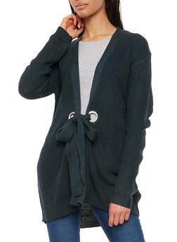 Long Sleeve Grommet Closure Cardigan - 1022069391544