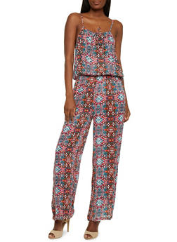 Printed Multicolor Jumpsuit - 1045038348325