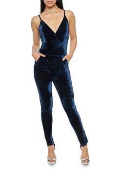 Sleeveless Velvet Jumpsuit - 1045051061025