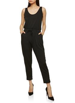 Drawstring Waist Jumpsuit - 1045054260450