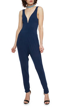 Sleeveless V Neck Jumpsuit - 1045054268811