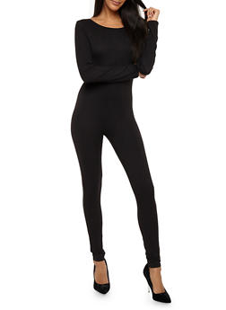 Soft Knit Long Sleeve Catsuit - 1045058752591