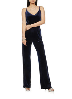 Velvet Wide Leg Jumpsuit - 1045058752787