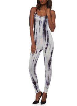 Sleeveless Tie Dye Catsuit - 1045058933116