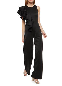 Asymmetrical Ruffle Jumpsuit - 1045062126257
