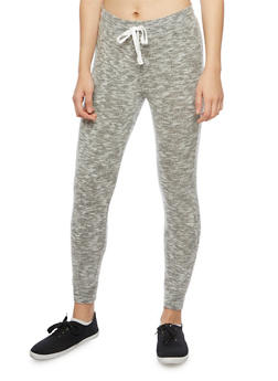 Soft Marled Knit Joggers - HEATHER/GREY - 1056001440099