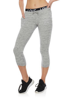 Marled Love Capri Joggers with Drawstring - HEATHER - 1056015999963