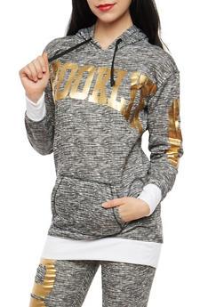 Brooklyn Foil Graphic Hooded Sweatshirt - 1056038342709