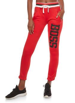 Boss Graphic Fleece Sweatpants - 1056038342714