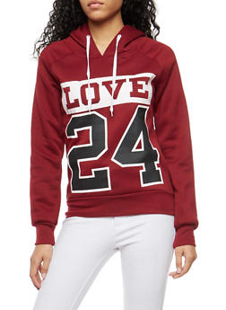 Love 24 Graphic Hooded Sweatshirt - 1056038342715