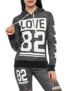 Love Graphic Hooded Sweatshirt - 1056038342721