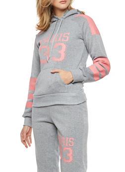Paris Graphic Hooded Sweatshirt - 1056038342725