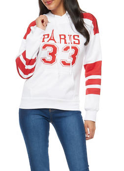 Paris Graphic Hooded Sweatshirt - 1056038342725