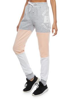 Brooklyn Graphic Color Block Sweatpants - 1056038342728