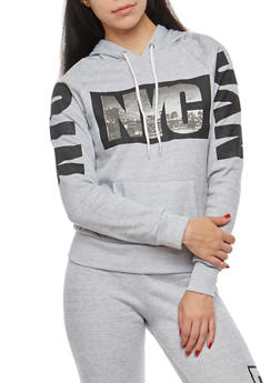 NYC Graphic Hooded Sweatshirt - 1056038342731