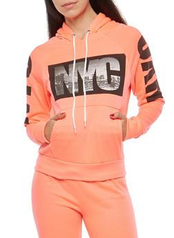 NYC Graphic Hooded Sweatshirt - 1056038342731