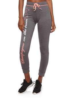 Champagne Graphic Joggers - 1056038342853