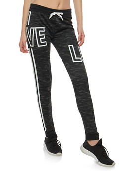 Love Graphic Sweatpants - 1056038342859