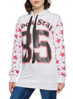 Rock Star Graphic Hooded Sweatshirt - 1056038342890