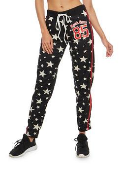 Rock Star Graphic Sweatpants - 1056038342891
