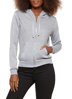 Quilted Hooded Sweatshirt - 1056038342894