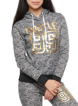 Hustle Foil Graphic Hooded Sweatshirt - 1056038342902