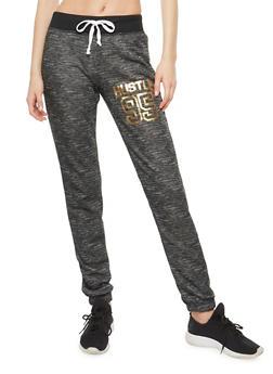 Hustle Foil Graphic Sweatpants - 1056038342903