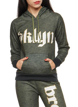 Marled BKLYN Graphic Hooded Sweatshirt - 1056038342904