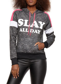 Fleece Graphic Activewear Sweatshirt - 1056038342906