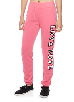 Quilted Joggers with Gold Foil Print - 1056038344401